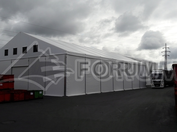 Výroba atypické stanové haly